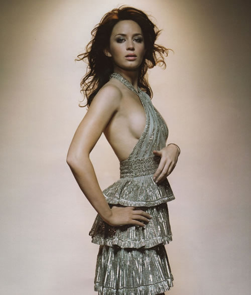 Emily Blunt showing form....