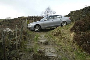 Lucky Escape for BMW Driver