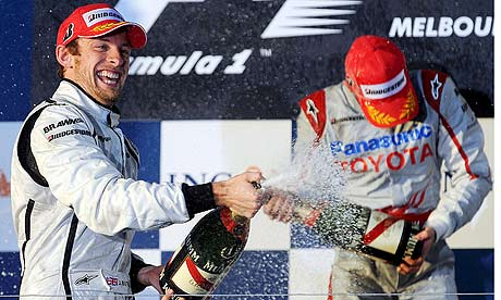 Jenson Button wins the Australian GP