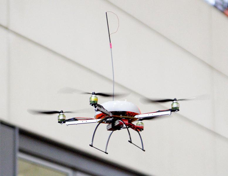 Wi-Fi Quadcoptor in-flight