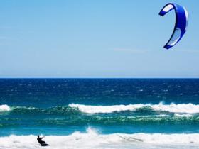 Kite Surfers Jump Worthing Pier