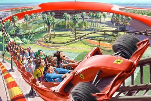 Ferrari World Rollercoaster