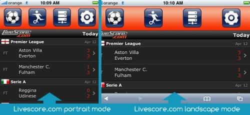 Live Scores iPhone App