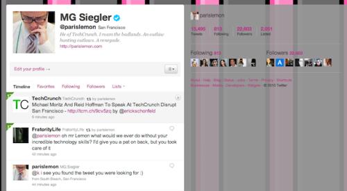 New Twitter Screenshots