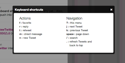 Twitter Shortcuts