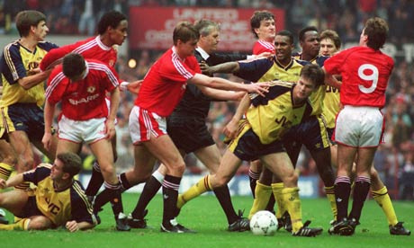 Manchester United V Arsenal Brawl