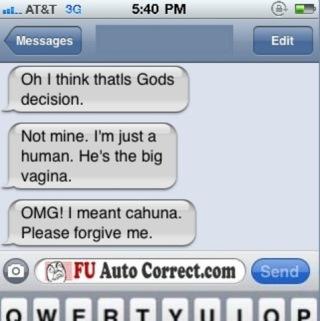 Funny God Auto-correct Texts