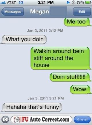 Funny Stiff Auto-correct Texts