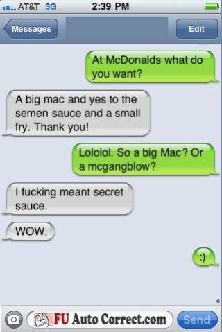 Funny Auto-correct Texts Seaman