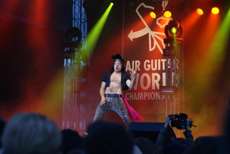 Weirdest World Championships Air Guitar