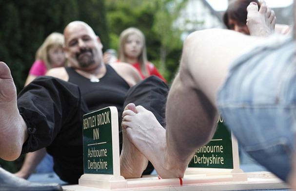 Weirdest World Championships Toe Wrestling