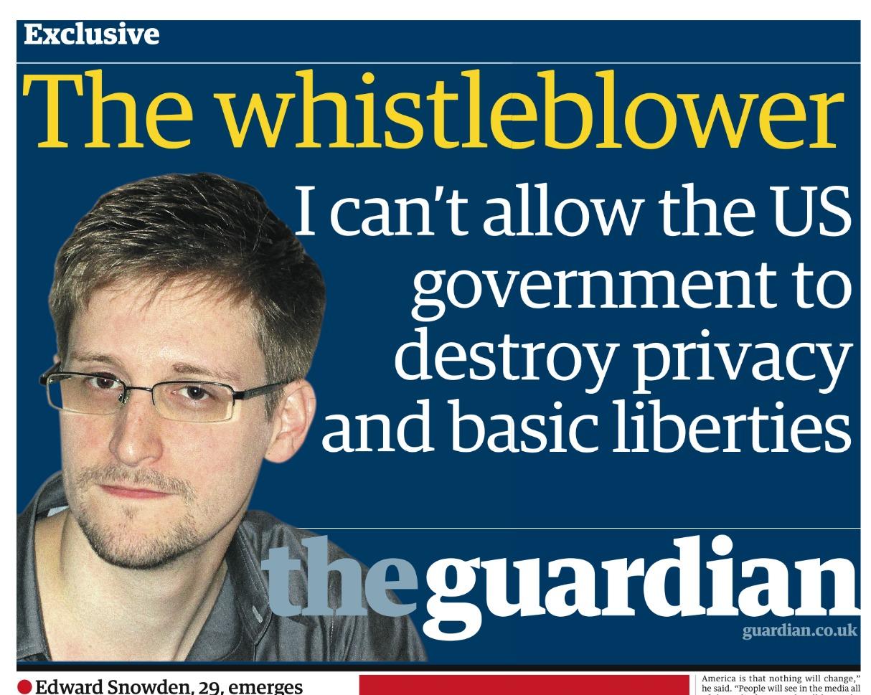 Edward Snowden Guardian Newspaper