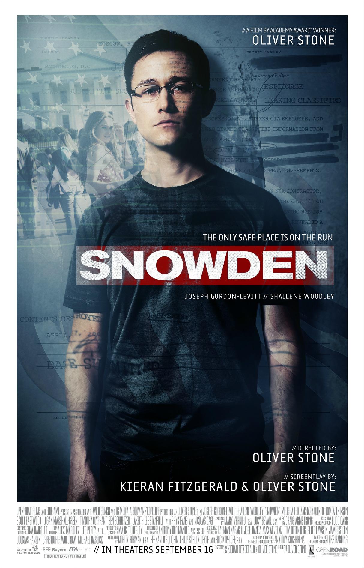 Edward Snowden Movie Poster