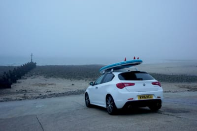 Alfa Romeo at Sea Palling Beach