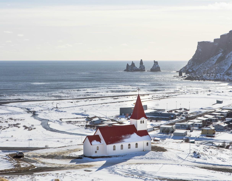 Iceland Church Beach
