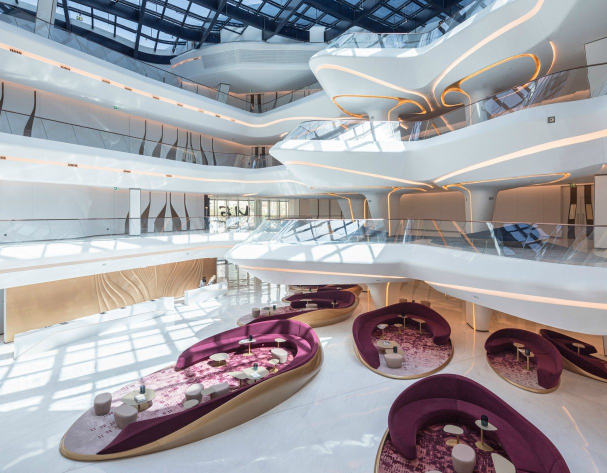 Zaha Hadid Architects' ME Dubai Hotel Reception