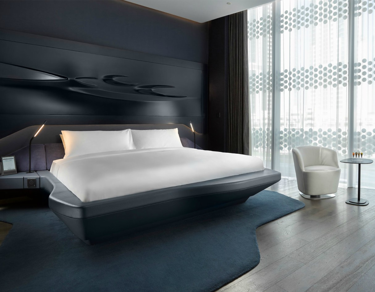 Zaha Hadid Architects' ME Dubai Hotel Room
