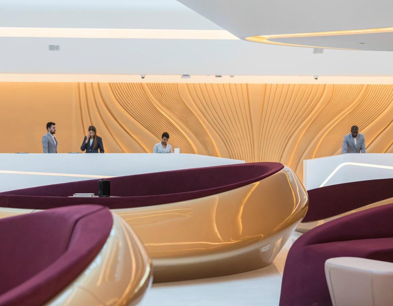 Zaha Hadid Architects' ME Dubai Hotel Lobby